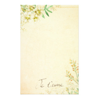 Natural Floral Stationary Paper
