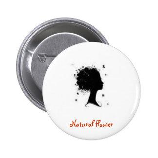 Natural Flower 6 Cm Round Badge
