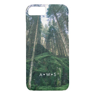 Natural Forest Scenery Personalized Initials iPhone 8/7 Case