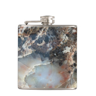 Natural Fossil Pattern Flask