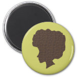 Natural 'Fro 6 Cm Round Magnet
