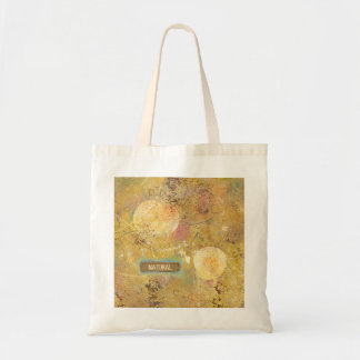 Natural fun funky abstract art unique painting bag