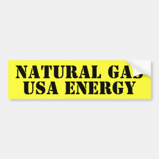 NATURAL GAS BUMPER STICKER
