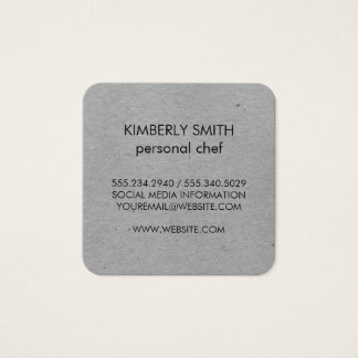 Natural Gray Speckled Square Business Card