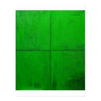 Natural Green Coordinate System (green minimalism) Postcards