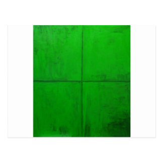 Natural Green Coordinate System green minimalism Postcard