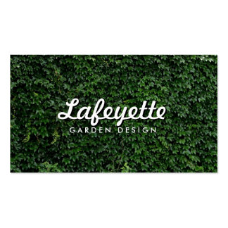Natural Green Leaf Wall Eco-Friendly Garden Design Business Cards