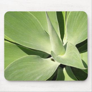 Natural Green Spirals Mouse Pad