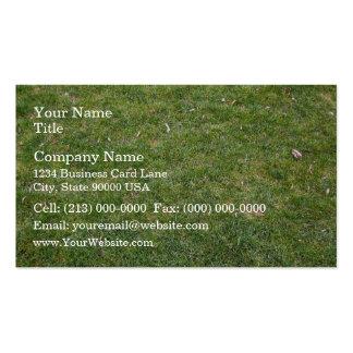 Natural Green Trimmed Grass Field Business Cards