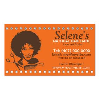 Natural Hair African American Salon Business Card