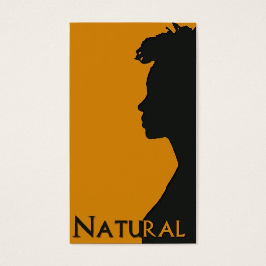 Natural Hair businesscard Business Card