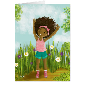Natural Hair Greeting Card