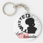 Natural Hair: Totally Twisted Basic Round Button Key Ring
