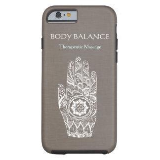 Natural Healer Henna Lotus Tattoo Hand Tough iPhone 6 Case