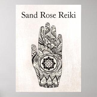 Natural Healer Henna Tattoo Hand Lotus Poster