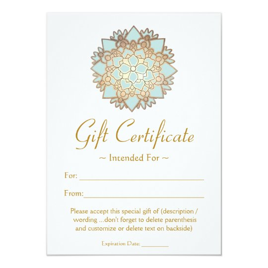 Natural Health Spa Lotus Flower Gift Certificate Card