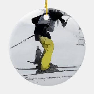 Natural High   - Ski Jump Landing Christmas Ornament