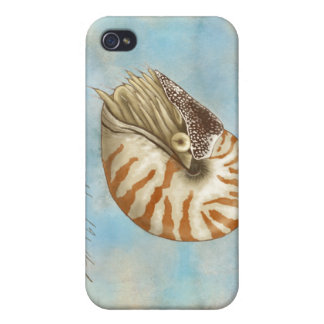 Natural History Nautilus Covers For iPhone 4
