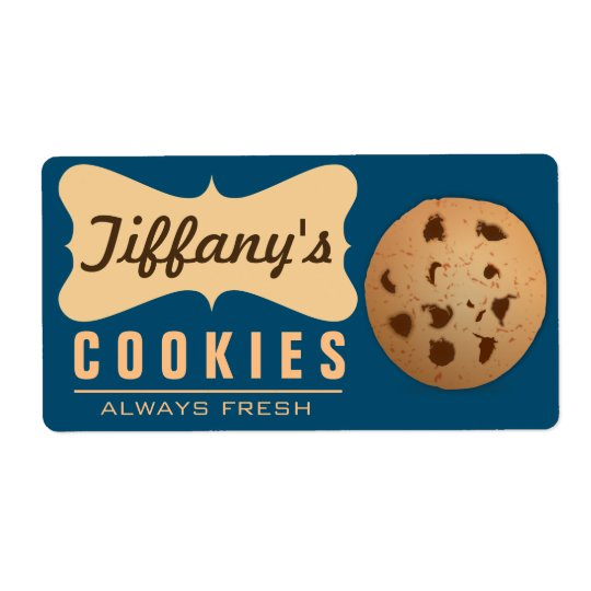 Natural | Homebaked | Gourmet | Handmade Cookies Shipping Label