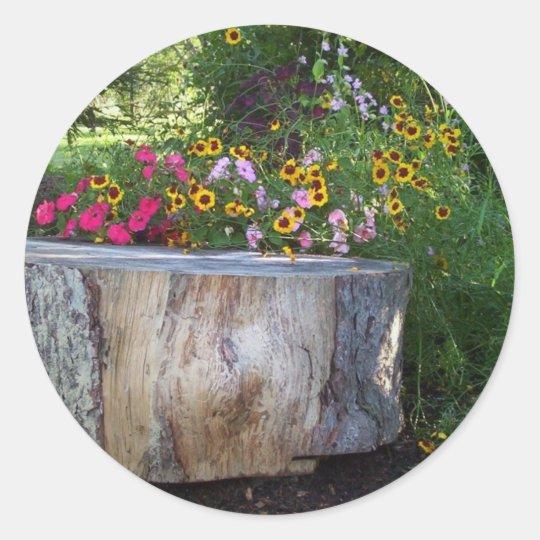 Natural Landscape Classic Round Sticker