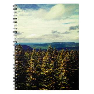 Natural Landscape Spiral Note Book