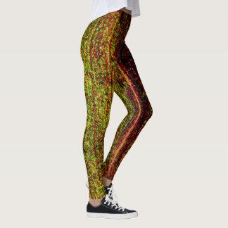 Natural Leaf Texture Leggings