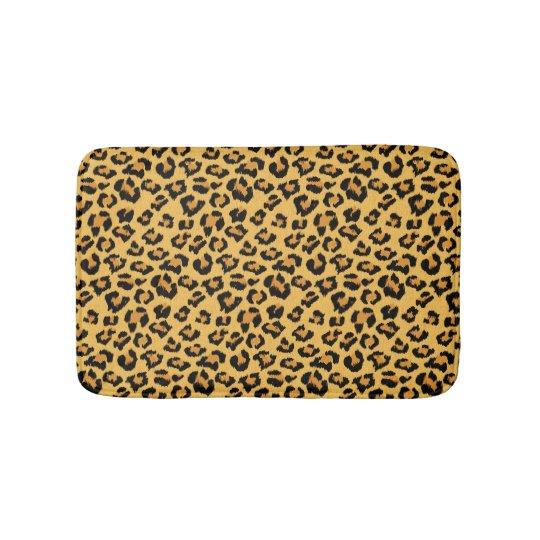 Natural Leopard Skin Print Fake Fur Pattern Bath