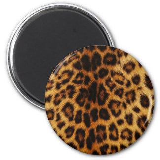 Natural Leopard Spots 6 Cm Round Magnet