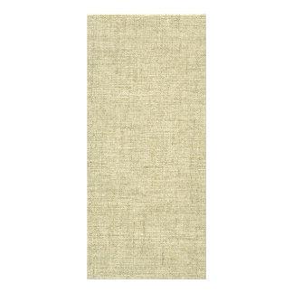 Natural Linen Canvas Texture Rack Card Template