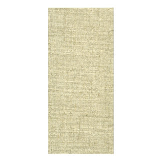 Natural Linen Canvas Texture Personalized Rack Card