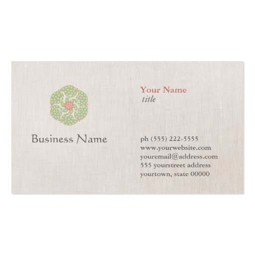 Natural Medicine Profession Business Card