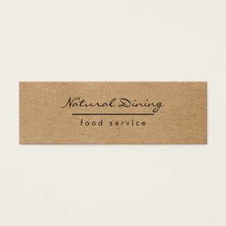 Natural Minimalist Brown Speckled Mini Business Card