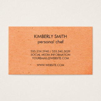 Natural Minimalist Speckled Business Card