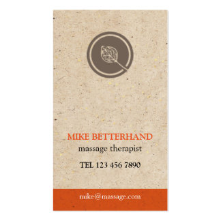 Natural Multi-Purpose Biz Card (orange) Pack Of Standard Business Cards