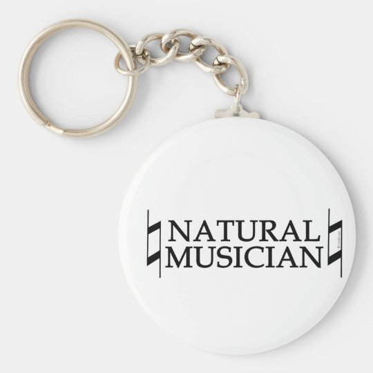 Natural Musician Basic Round Button Key Ring