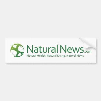 Natural News Logo Bumpersticker Bumper Sticker