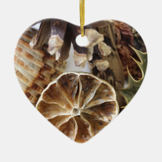 natural objects ceramic heart decoration