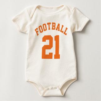 Natural & Orange Baby | Sports Jersey Design Romper