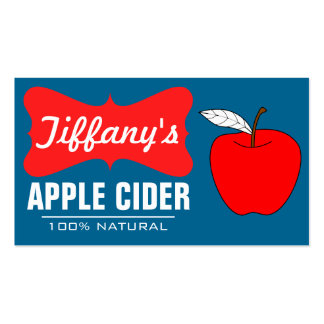 Natural Organic   Handmade Apple Cider Pack Of Standard Business Cards