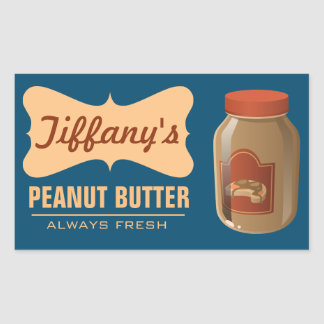 Natural | Organic Peanut Butter | Handmade Butter Rectangular Sticker