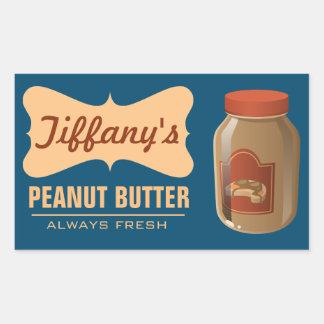 Natural | Organic Peanut Butter | Handmade Butter Rectangular Sticker