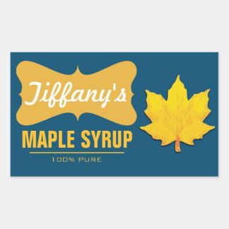 Natural | Pancake Syrup | Organic Maple Syrup Rectangular Sticker