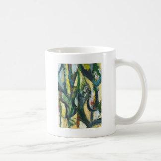 Natural Park divided by Thick Lines Basic White Mug