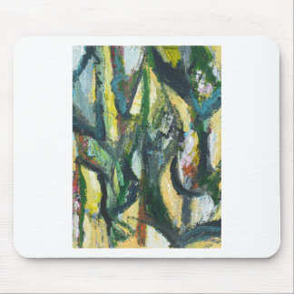 Natural Park divided by Thick Lines Mouse Pad