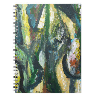 Natural Park divided by Thick Lines Spiral Notebook