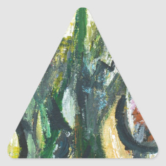 Natural Park divided by Thick Lines Triangle Sticker