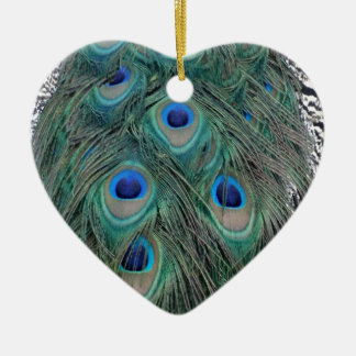 Natural Peacock Feather Eyes Colorful Christmas Ornament