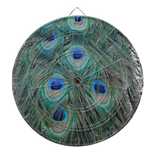 Natural Peacock Feather Eyes Colorful Dartboard