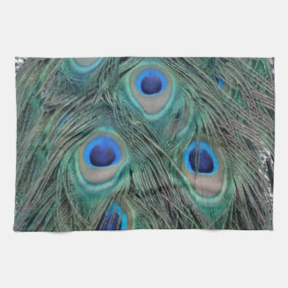 Natural Peacock Feather Eyes Colorful Tea Towel