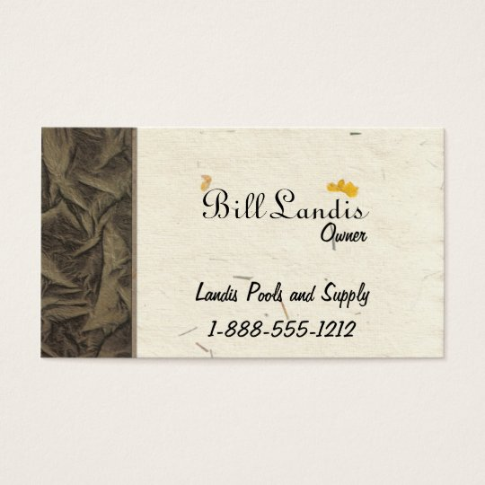 Natural Pressed Paper Business Card